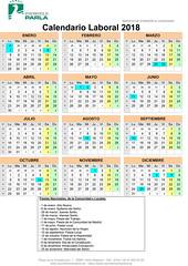 calendario Parla 2018