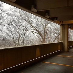 Parking structure on gray day