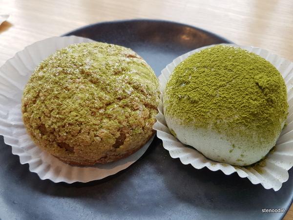 Tsujiri matcha baked goods