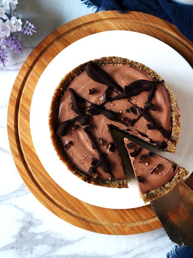 全素雙層巧克力香草乳酪蛋糕 vegan-double-chocolate-vanilla-cheesecake (8)