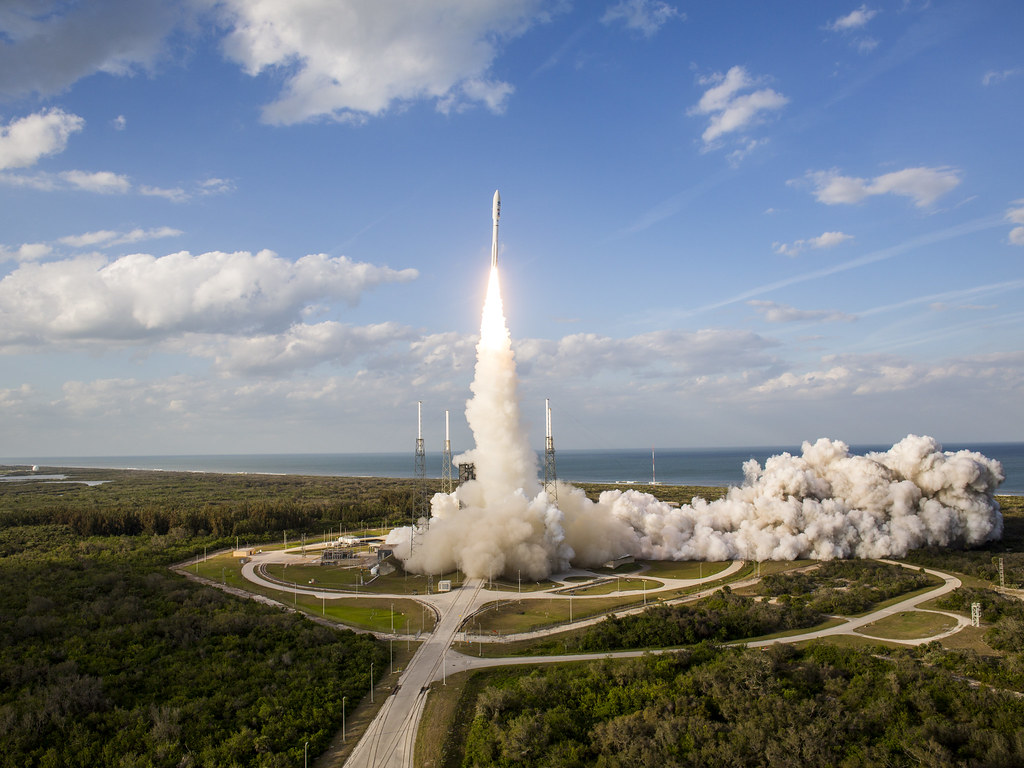 A United Launch Alliance Atlas V rocket lifts off from Space Launch Complex 41 at Cape Canaveral Air Force Station carrying GOES-S on March 1, 2018.