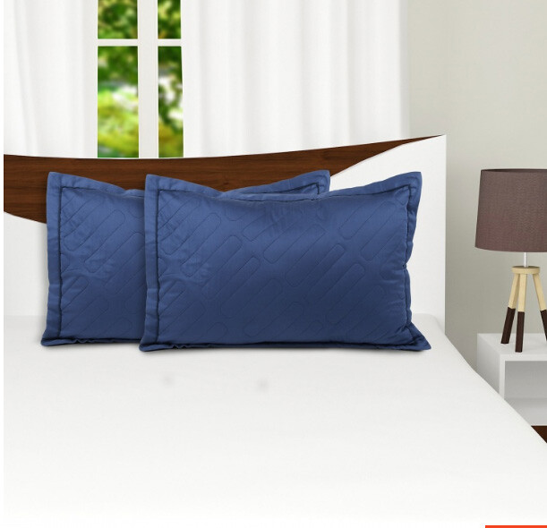 blue pillow sham