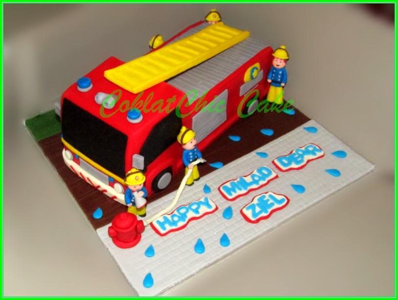 Cake Firetruck ZIEL 30 cm