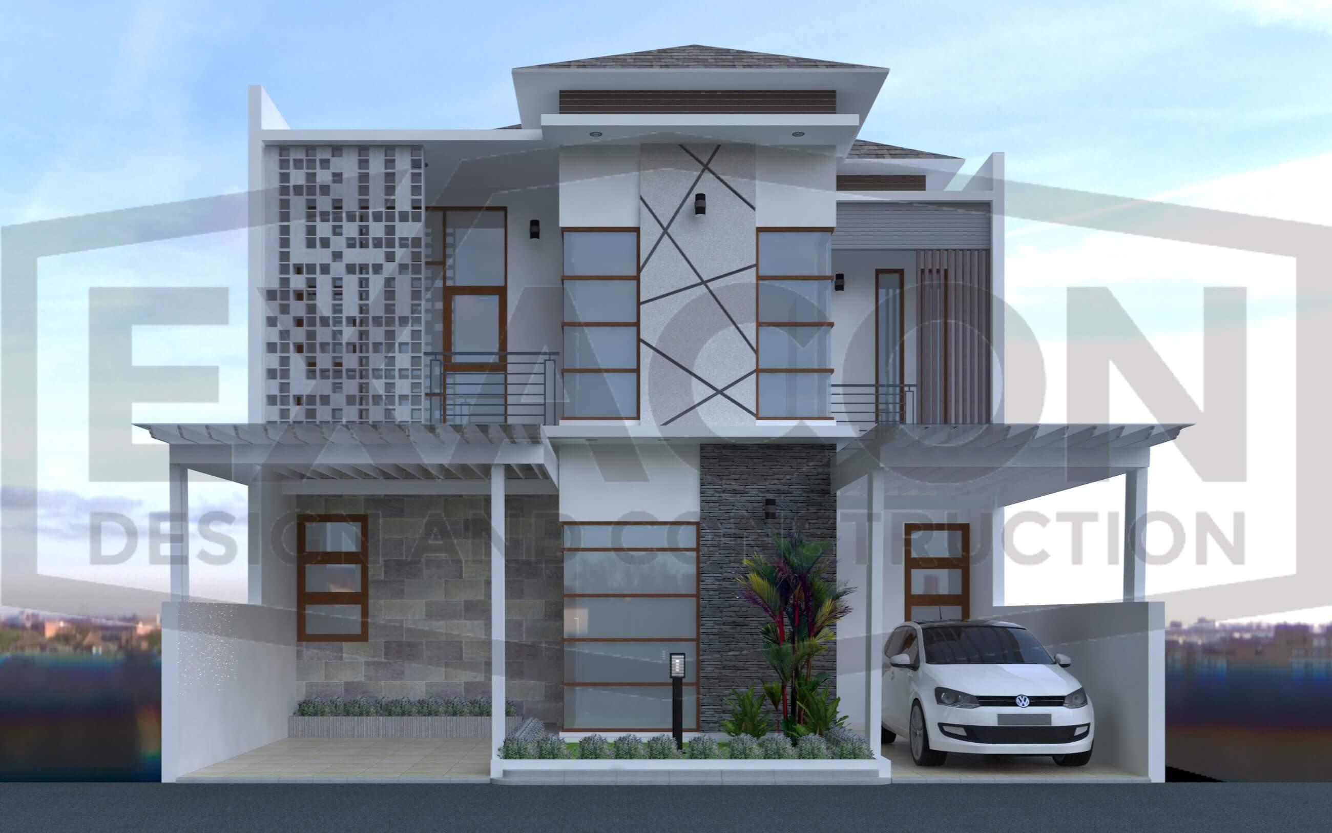 Proyek Desain Rumah Minimalis Modern Bapak Hendra Bandung