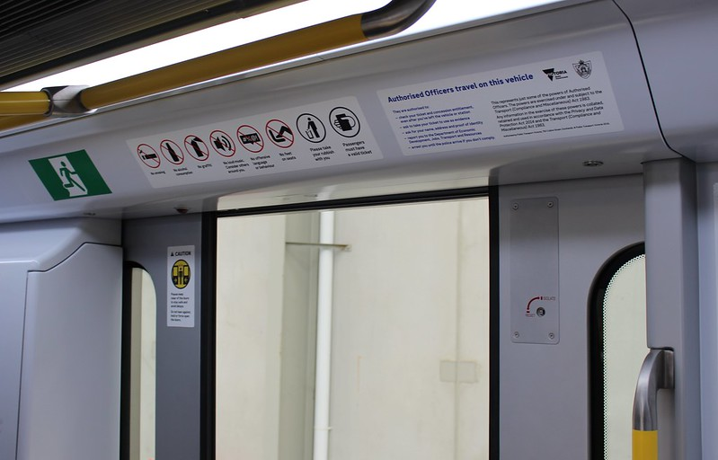 New metro trains: signage above doors
