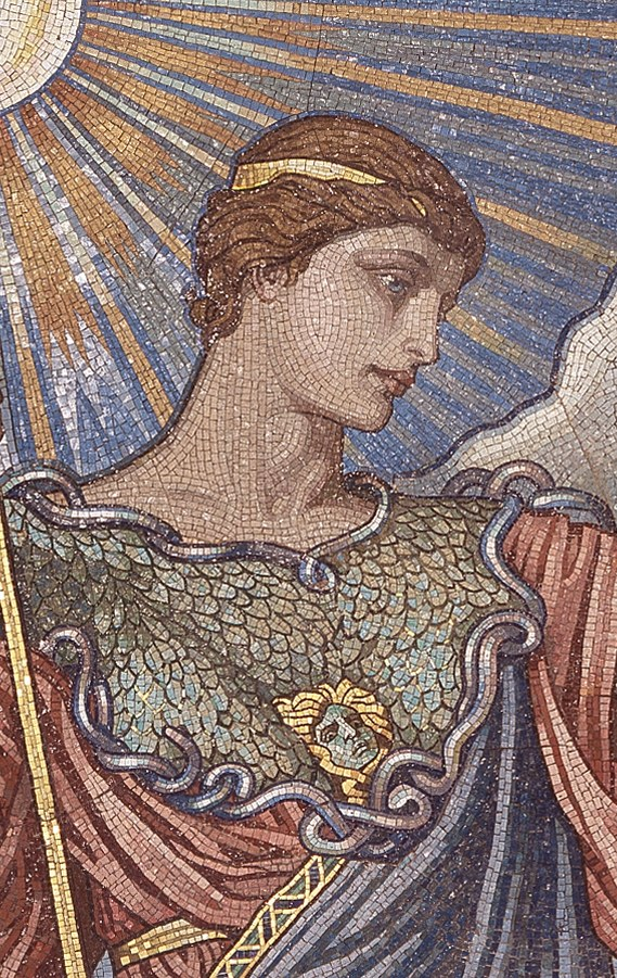 Mosaic of the Minerva of Peace in the Library of Congress