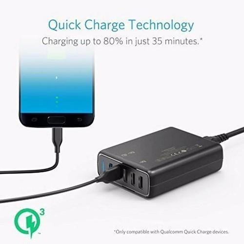 Sạc ANKER PowerPort Speed 5 cổng 63w với 2 cổng Quick Charge 3.0 Price: VNĐ846000.0 Là phiên bản nâng cấp của A2141 - PowerPort 2, 24w và A2024 - PowerPort 2, 30w, QC 3.0. Sạc nhanh hơn. Việc kết hợp công nghệ sạc nhanh Qualcomm Quick Charge 3.0 cùng với