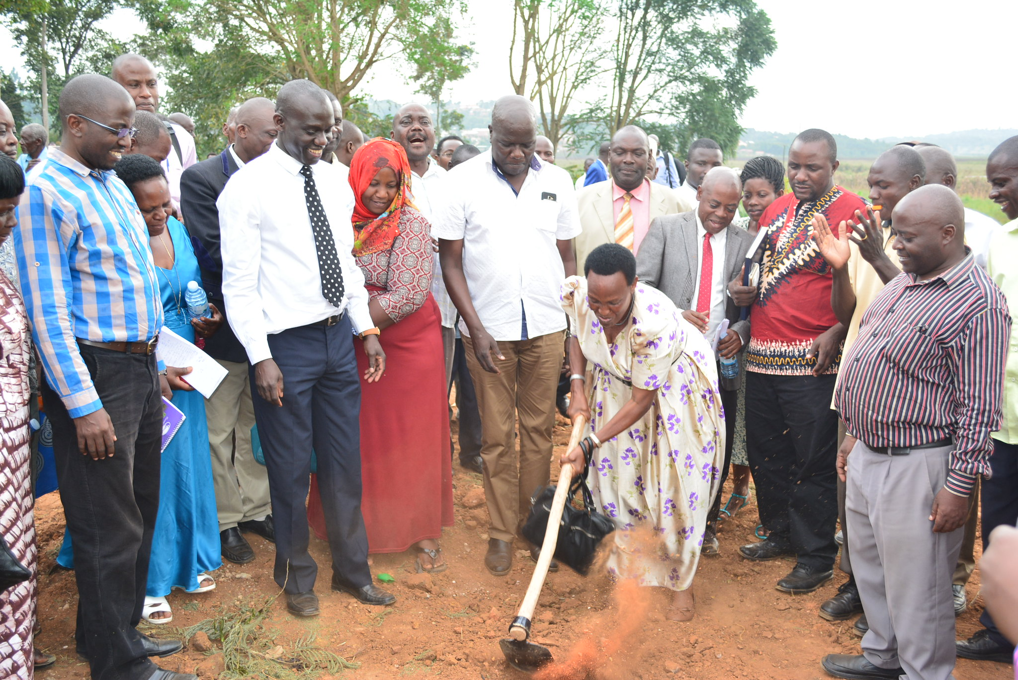 Groundbreaking event for pig abattoir in Masaka, Uganda