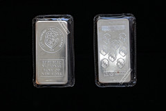 Silver bars: Republic National Bank of New York