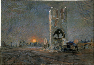 The cloth Hall, Ypres by George Edmund Butler, 1919