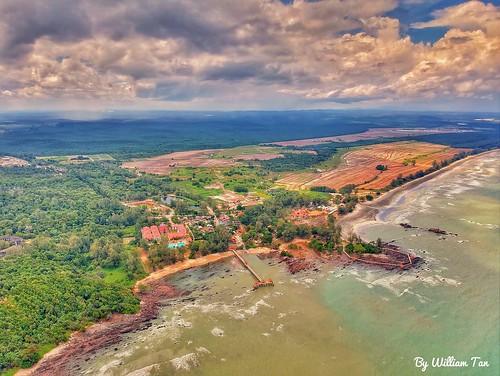 High altitude aerial photography in East Coast Johor, Malaysia.