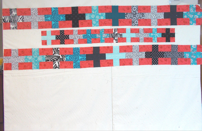 Plus Size back in progress by Sandi Walton at Piecemeal Quilts