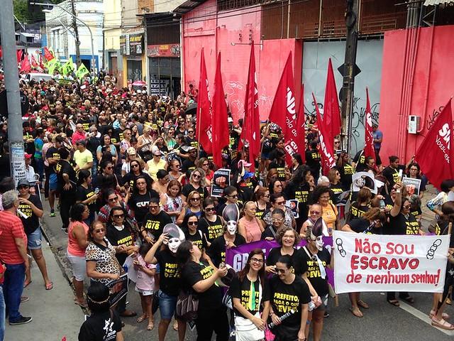 Em Fortaleza, a paralisação foi convocada pela Frente Brasil Popular - Créditos: Evilazio Bezerra/Mídia NINJA