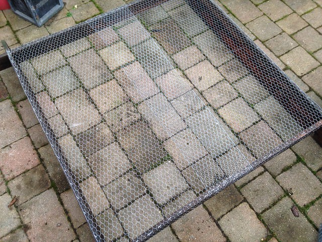 Chicken wire frame, raised bed cover