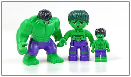 LEGO Marvel Superheroes Hulk Minifigure, Bigfigure & Duplo figure 01