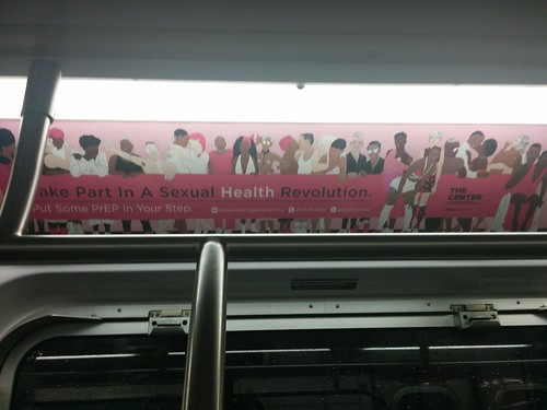"""Take Part in a Sexual Health Revolution"" #newyorkcity #newyork #subway #ad #prep #hiv #hivaids #hivawareness #latergram #preexposureprophylaxis"