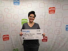 Kristen Woodward - $30,000 - Lucky Bug Cashword - Nampa - Gem Stop