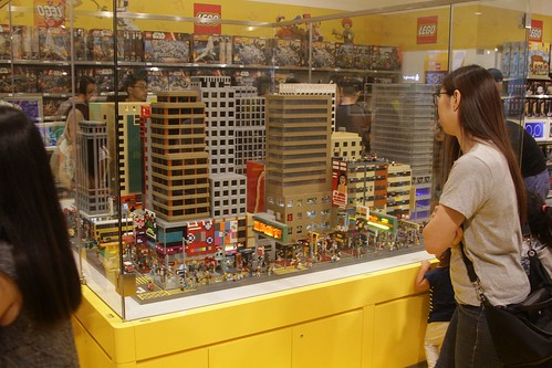 Nathan Road reproduced in Lego at the Hong Kong LEGO Store