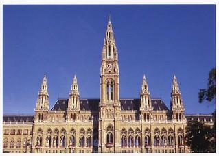 Austria - Wiedeń - Ratusz .