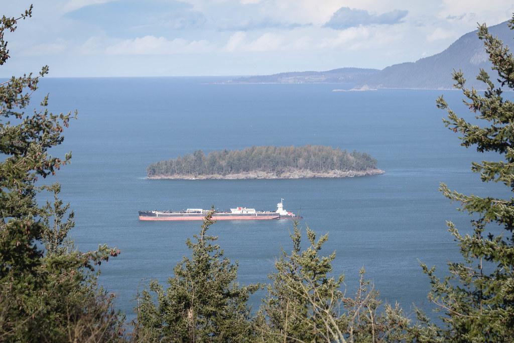 Jack Island and a ship