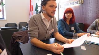 Jugendreferent Dominik Knes und gewählte Vorsitzende Christina Decker