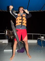 Night fishing at Racha island near Phuket, Thailand