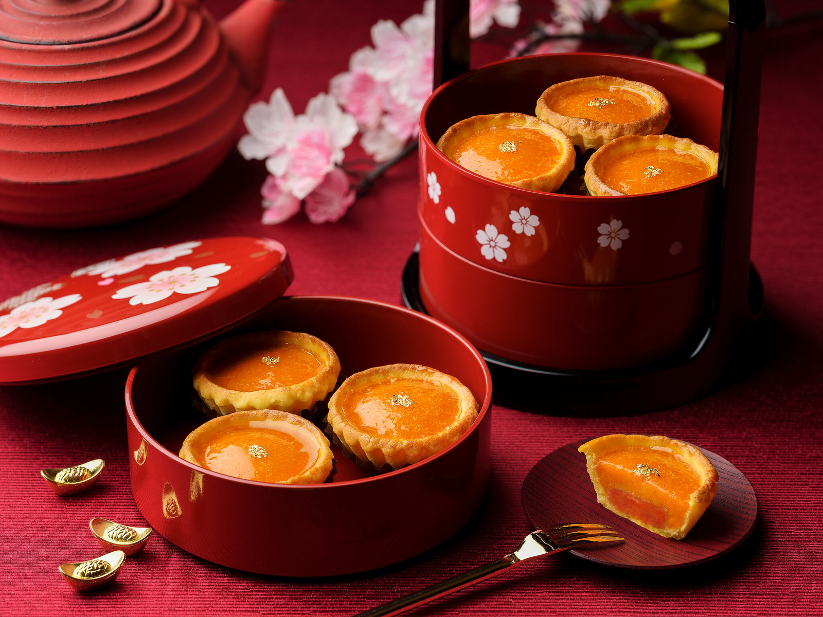 Wan Hao - Golden Nian Gao Tart with Cempedak