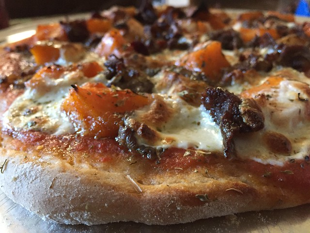Beef/Butternut/Apple/Cranberry Pizza