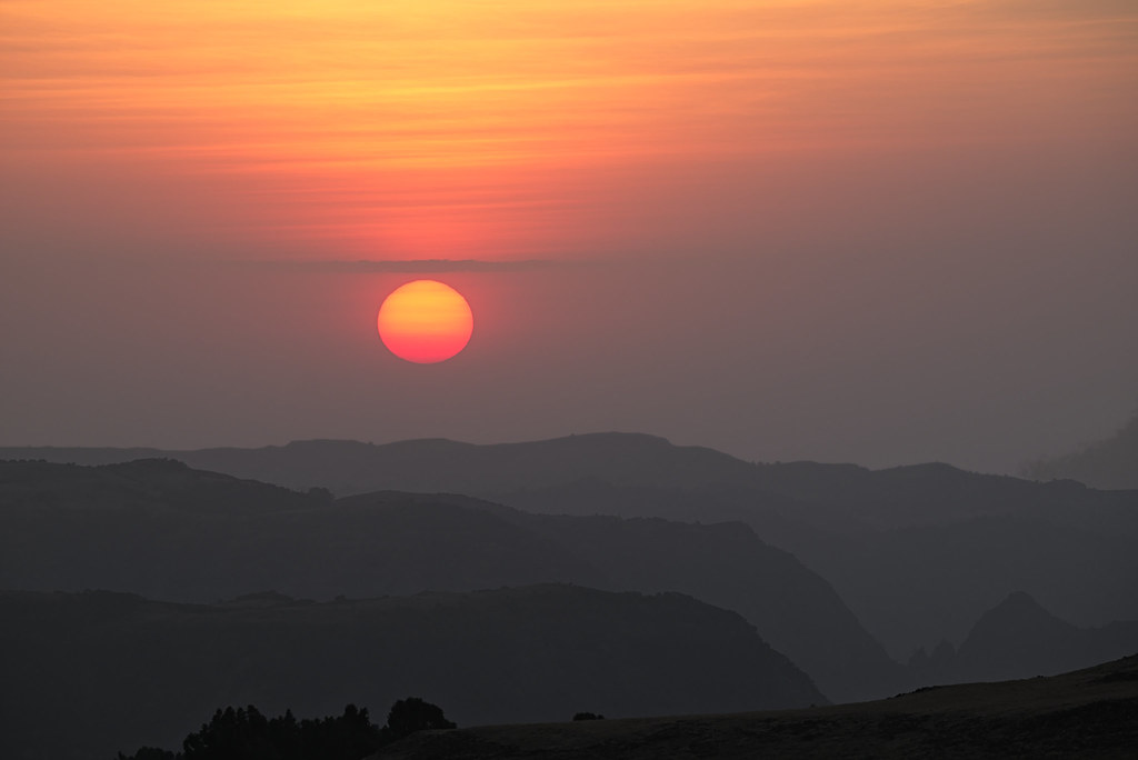 Sunset at Gich Campsite - Simien Mountains National Park