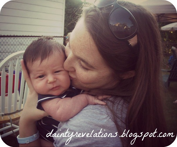 kissing baby Henry
