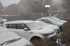 More Snow in Bishop's Stortford, Hertfordshire .