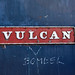 'Vulcan' nameplate on 47 090, Crewe Works, 12-08-84