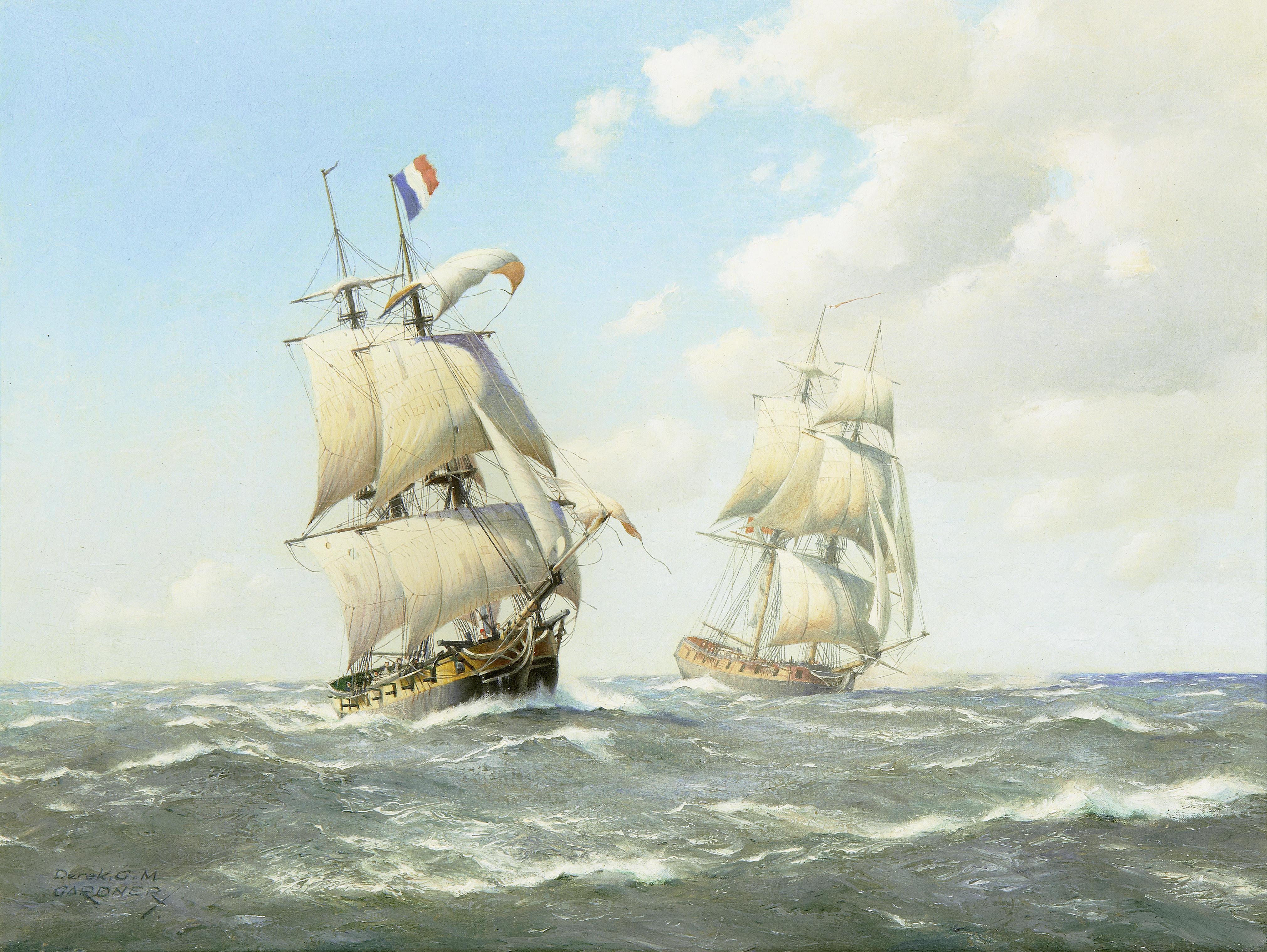 French brigantine of the 18th century.