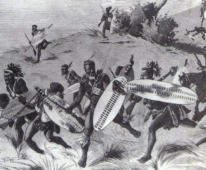 Zulu warriors, 1879