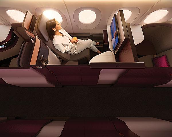 Qatar Airways QSuites ventana (Qatar Airways)