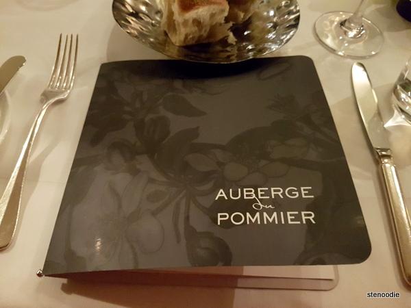 Auberge du Pommier menu