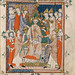 Coronation of Edward II from Apocalypse, Visio Sancti Pauli, MS 020, Corpus Christi College, Cambridge, 1300-25