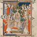 Coronation of Edward II from Apocalypse, Visio Sancti Pauli, MS 020, Corpus Christi College, Cambridge, 1300-25