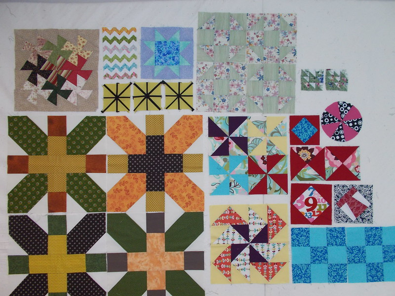Miscellaneous leftover blocks by Sandi Walton at Piecemeal Quilts