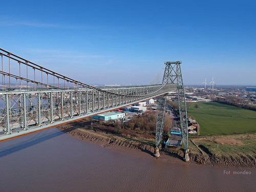 Drone View of Newport Transporter Bridge