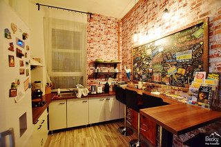 Friends Hostel Budapest Hungary (best hostel in Budapest) - kitchen area