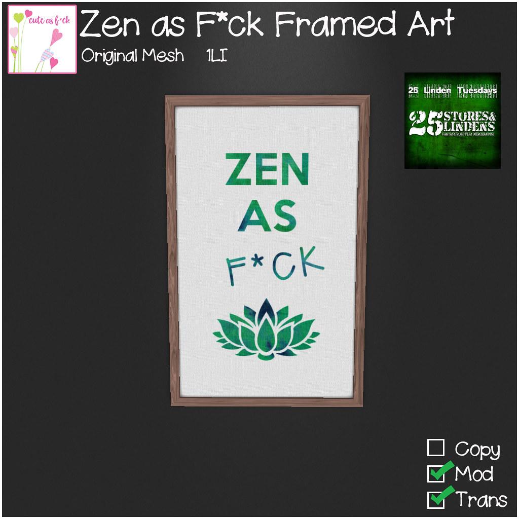 ::cute as f*ck:: 25L Tuesday – Zen as F*ck Art
