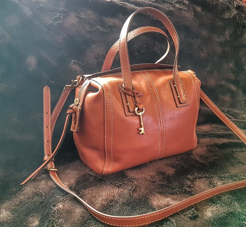 Fossil Emma Satchel Front View