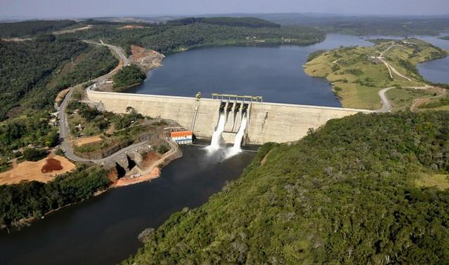 Usina Hidrelétrica Governador Jayme Canet Junior, no Paraná, gera energia suficiente para atender um milhão de pessoas - Créditos: Divulgação / Consórcio Cruzeiro do Sul