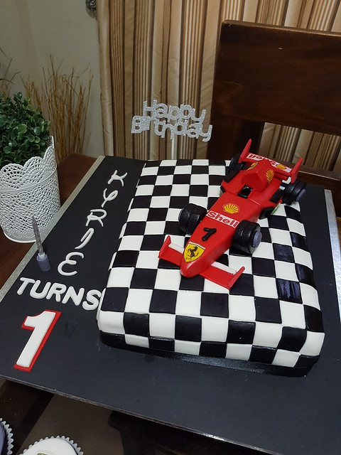 Ferrari Themed Cake by Hizza Lazaga Castillo of Jacob Sweet Treats