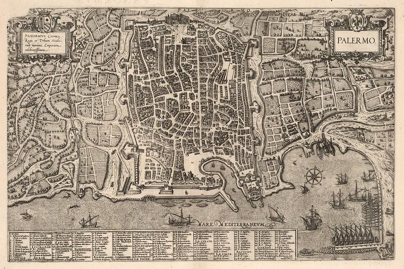 Georg Braun & Frans Hogenberg - Palermo (1588)
