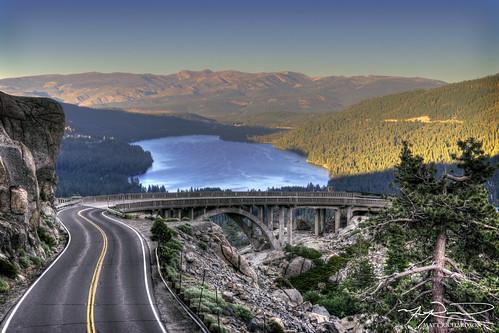 donnerlake tahoe hdr highway40 landscape mountain lake