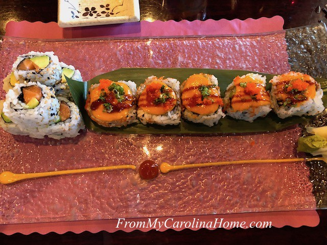 Japanese Sushi at From My Carolina Home