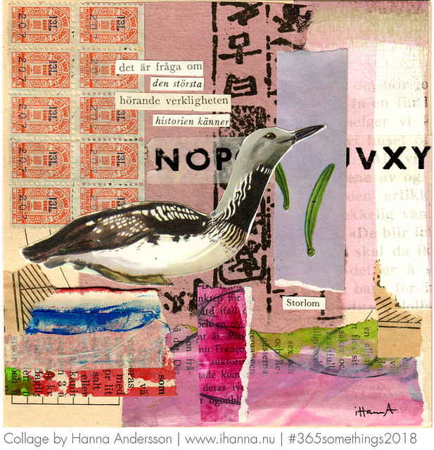 The black-throated diver sings again - Collage 24 by Hanna Andersson aka iHanna #365somethings2018 #collage #art