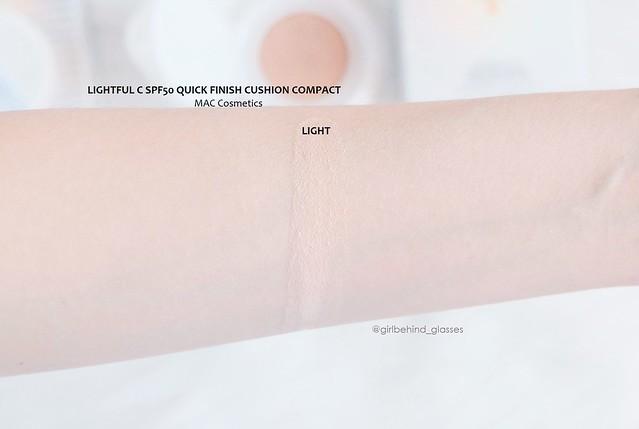 MAC Lightful C SPF 50 Quick Finish Cushion Compact Light swatch3
